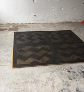 visgraat houten vloer enkel dubbel