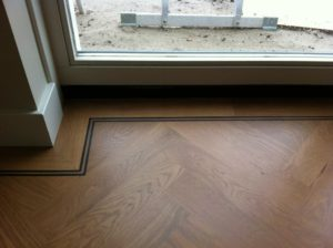 visgraat vloer met donkere rand Amersfoort